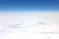 View from a plane. A clouds - view from the plane's window Stock Photo