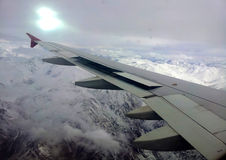 View from plane stock photo
