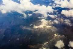 The View from the plane above the cloud and sky Stock Image