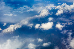 The view from the plane above clouds and sky Royalty Free Stock Images