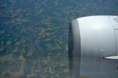 View from Plane Royalty Free Stock Photos