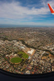View from plane, Adelaide city Stock Photos