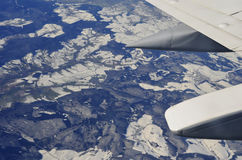 View from a plane Royalty Free Stock Images