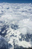 View from a plane, Alps Stock Photography