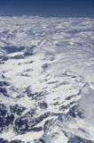 View from a plane, Alps Stock Image