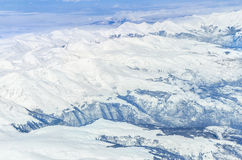 View from plane of Alps Royalty Free Stock Image