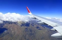 View from plane. Andes mountains. Stock Photos
