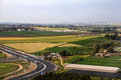 View from plane on Ben Gurion International Airport Stock Image