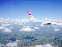 View on a plane Royalty Free Stock Image