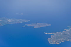 View from the plane - Malta. The northern part of the Maltese islands as seen from a plane Stock Photos