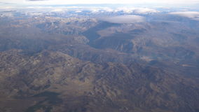 View from the plane on the Moraca River canyon stock footage