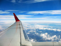 View from plane vindow Stock Image