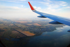 View from the plane window Royalty Free Stock Photo