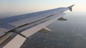 Flying on a plane stock video footage