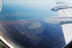 View from plane window. Stock Photography