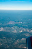View of plane window Royalty Free Stock Photos