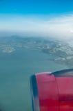 View of plane window Stock Image