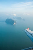 View of plane window Royalty Free Stock Image