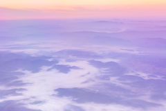View from the plane window Royalty Free Stock Photos