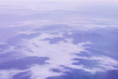 View from the plane window Stock Photography