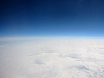 View of the Planet Earth. On the Cloud stock images