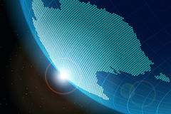 View of planet Earth from space on the continent Australia Royalty Free Stock Photos