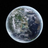 View of the planet Earth in space Stock Photos