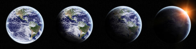 View of the planet Earth in space Royalty Free Stock Images