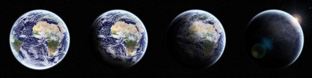 View of the planet Earth in space Stock Photography