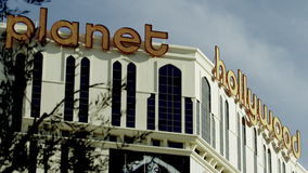 View on the Planet Holywood casino stock footage