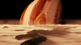 A view of planet Jupiter as seen from one of its moons Stock Images