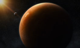 View of planet Mars Royalty Free Stock Photography