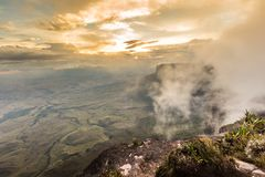 The view from the plateau of Roraima on the Grand Sabana - Venezuela, Latin America Royalty Free Stock Images