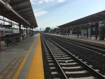 Station San Jose Diridon. View from the platform of the station Diridon, San Jose California royalty free stock photo