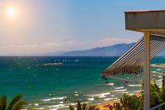 View of Platja Llarga beach in Salou Spain Royalty Free Stock Image