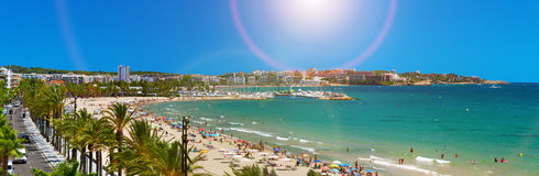 View of Platja Llarga beach in Salou Spain Stock Image