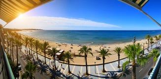 View of Platja Llarga beach in Salou Spain Royalty Free Stock Photography