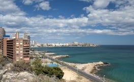 View of Playa de Albufereta Alicante Royalty Free Stock Photography