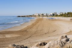 Playa Romana beach in Alcossebre, Spain Royalty Free Stock Image