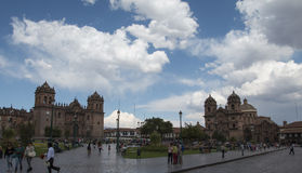 View of Plaza de Armas Stock Photo