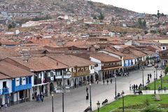 View of Plaza De Armas of Cusco, Peru Royalty Free Stock Image