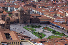 View on Plaza de Armas in Cusco in Peru Royalty Free Stock Photos