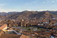 View of Plaza de Armas in Cusco Royalty Free Stock Photography