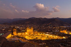 View of Plaza de Armas in Cusco Stock Photography