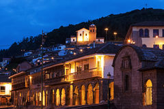 View from Plaza de Armas in Cuzco Stock Image