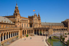 View of Plaza de Espa?a, Sevilla, Spain Royalty Free Stock Photo