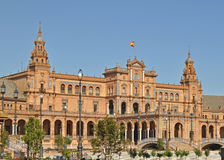 A  view of the Plaza De Espana In seville Spain Royalty Free Stock Photography