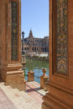 View Plaza de Espana in Seville, Spain Royalty Free Stock Photos