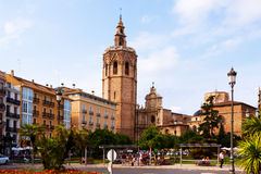 View of Plaza de la Reina in Valencia, Spain Stock Image