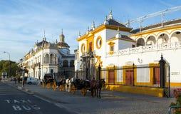 View of Plaza de Toros. Seville Stock Image